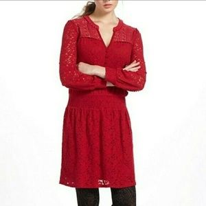 Anthropologie Liefnotes Field Day Lace Dress